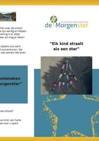 "Folder radarschool ""De Morgenster"", Elk kind straalt als een ster"