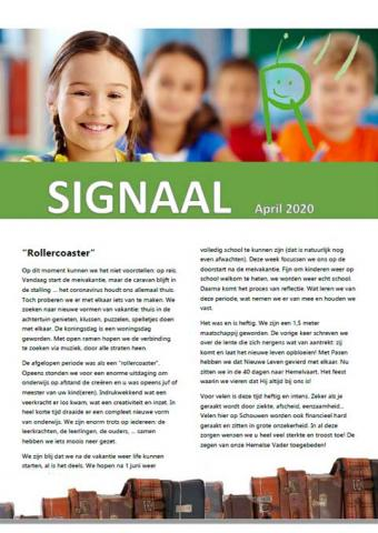 Periodiek radarscholen signaal april 2020
